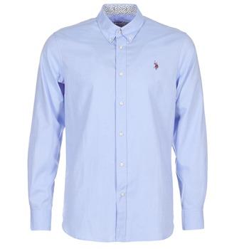 衣服 男士 长袖衬衫 U.S Polo Assn. 美国马球协会 CALE 蓝色