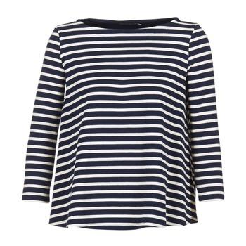 衣服 女士 女士上衣/罩衫 Petit Bateau 小帆船 LAURENI 白色 / 海蓝色