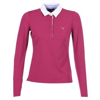 衣服 女士 长袖保罗衫 Gant SOLID JERSEY LS RUGGER 玫瑰色
