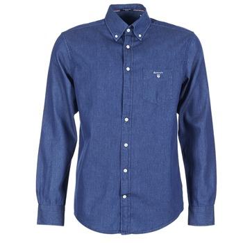 衣服 男士 长袖衬衫 Gant THE INDIGO SHIRT 蓝色