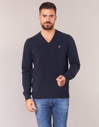 衣服 男士 羊毛衫 Gant SUPER FINE LAMBSWOOL V-NECK 海藍色