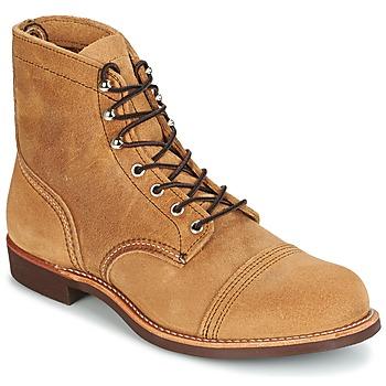 鞋子 男士 短筒靴 Red Wing 红翼 IRON RANGER 驼色