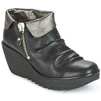 鞋子 女士 短筒靴 Fly London YOXI 黑色 / 银色
