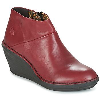 鞋子 女士 短筒靴 Fly London SIPI 671 红色