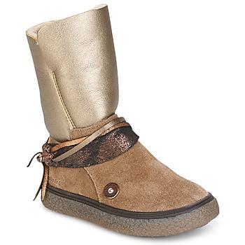 鞋子 女孩 都市靴 Catimini ROUGEGEORGE CTS TAUPE-CUIVRE DCH/GLEN