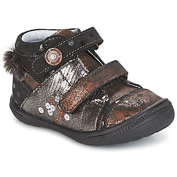 鞋子 女孩 短筒靴 Catimini ROSSIGNOL 黑色 / 铜色