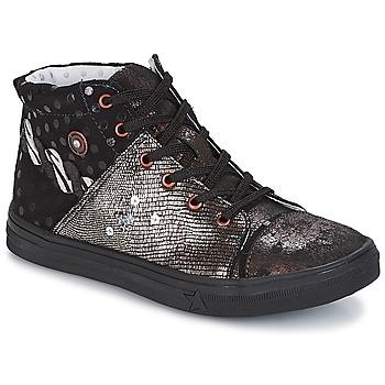 鞋子 女孩 短筒靴 Catimini ROUSSEROLLE 黑色 / 铜色