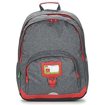 包 儿童 双肩包 Tann's CLASSIC SAC A DOS L 灰色 / 红色