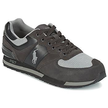 鞋子 男士 球鞋基本款 Ralph Lauren SLATON PONY 黑色 / 灰色
