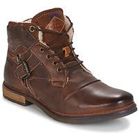 鞋子 男士 短筒靴 Bugatti LENIL 棕色 / Fonce