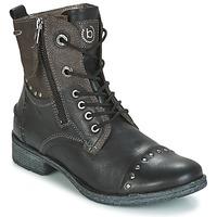 鞋子 女士 短筒靴 Bugatti PIERA 黑色 / 灰色 / Fonce