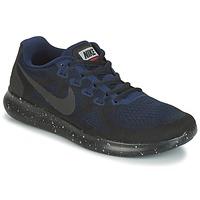 鞋子 女士 跑鞋 Nike 耐克 FREE RUN 2017 SHIELD 黑色 / 蓝色