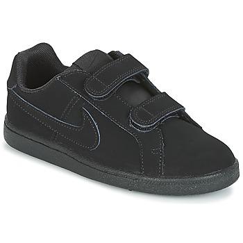 鞋子 男孩 球鞋基本款 Nike 耐克 COURT ROYALE PRE-SCHOOL 黑色