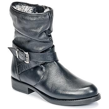 鞋子 女孩 短筒靴 Unisa GADIN 黑色
