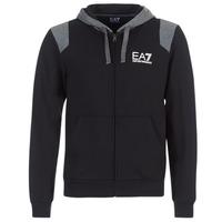 衣服 男士 卫衣 EA7 EMPORIO ARMANI TRAIN TRITONAL M HOODIE FZ 黑色