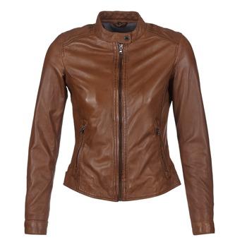 衣服 女士 皮夾克/ 人造皮革夾克 Oakwood 62578 駝色