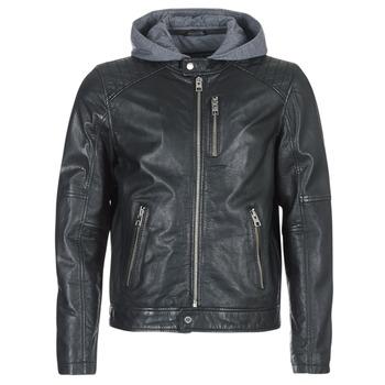 衣服 男士 皮夹克/ 人造皮革夹克 Oakwood 62579 黑色