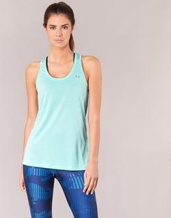 衣服 女士 无领短袖套衫/无袖T恤 Under Armour 安德玛 TECH TANK - SOLID 绿色