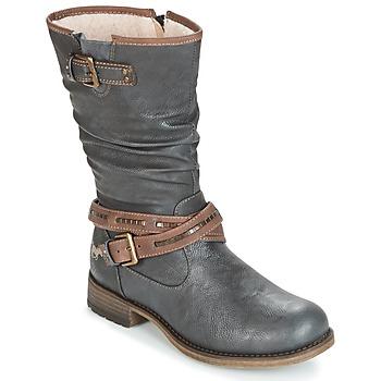 鞋子 女士 都市靴 Mustang ISALBA 石墨色