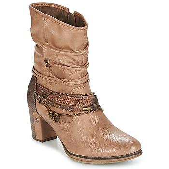 鞋子 女士 短靴 Mustang BUNDEN 米色