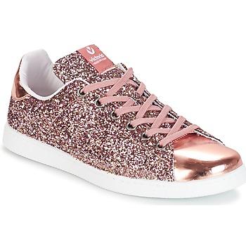 鞋子 女士 球鞋基本款 Victoria 维多利亚 DEPORTIVO BASKET GLITTER 玫瑰色