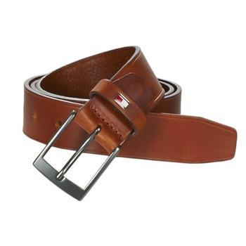 纺织配件 男士 腰带 Tommy Hilfiger TH LEATHER BELT 3.5 棕色