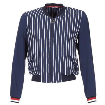 衣服 女士 外套/薄款西服 Tommy Hilfiger NALOME GLOBAL STP BOMBER 海蓝色 / 白色 / 红色