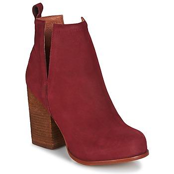 鞋子 女士 短靴 Jeffrey Campbell Oshea nubuck 波尔多红