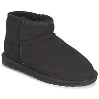 鞋子 女士 短筒靴 EMU STINGER MICRO 黑色