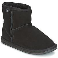 鞋子 女孩 短筒靴 EMU WALLABY MINI 黑色