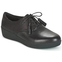 鞋子 女士 德比 FitFlop CLASSIC TASSEL SUPEROXFORD 黑色 / 蛇紋