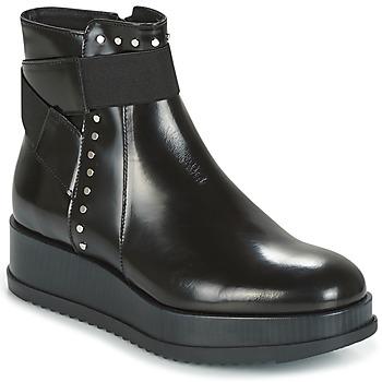 鞋子 女士 短筒靴 Tosca Blu CIVETTA ABRASIVATO 黑色