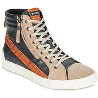 鞋子 男士 高帮鞋 Diesel 迪赛尔 D-STRING PLUS -煤灰色 / 驼色