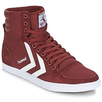 鞋子 高帮鞋 Hummel STADIL CANEVAS HIGH 波尔多红
