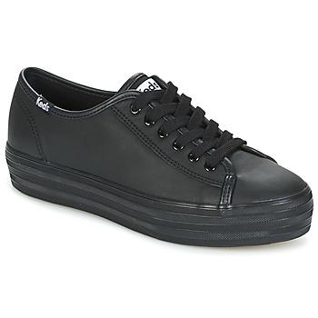 鞋子 女士 球鞋基本款 Keds TRIPLE KICK CORE LEATHER 黑色