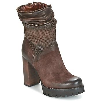鞋子 女士 短靴 Airstep / A.S.98 BLOC ZIP 棕色