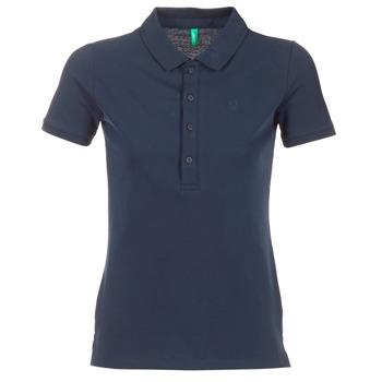 衣服 女士 短袖保罗衫 Benetton MAJOU 海蓝色