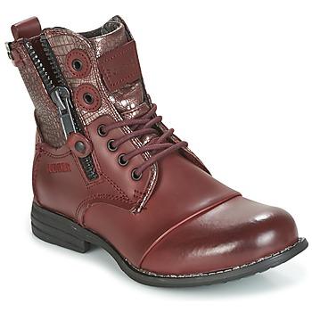 鞋子 女士 短筒靴 Bunker SARA 波尔多红