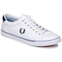 鞋子 男士 球鞋基本款 Fred Perry UNDERSPIN CANVAS 白色
