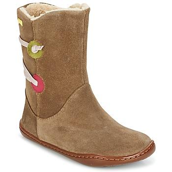 鞋子 女孩 短筒靴 Camper 看步 TWS 棕色