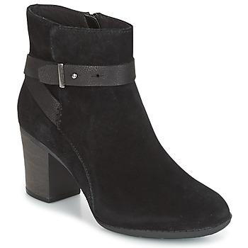 鞋子 女士 德比 Clarks 其乐 ENFIELD SARI 黑色 / Suede