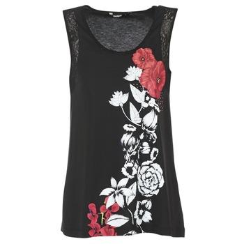 衣服 女士 无领短袖套衫/无袖T恤 Desigual MAGEIS 黑色