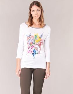 衣服 女士 长袖T恤 Desigual TERON 白色