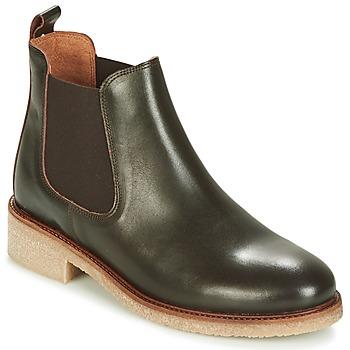 鞋子 女士 短筒靴 Bensimon BOOTS CREPE 棕色