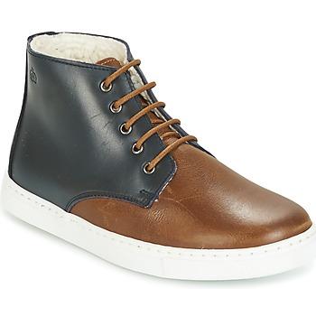 鞋子 男孩 短筒靴 Citrouille et Compagnie HILABOUL 棕色 / 海蓝色
