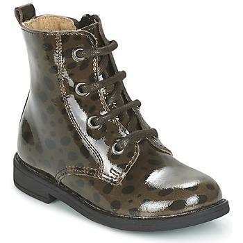 鞋子 女孩 短筒靴 Citrouille et Compagnie HEMANU 黑色 / 棕色