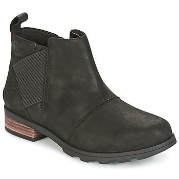 鞋子 女士 雪地靴 Sorel EMELIE CHELSEA 黑色
