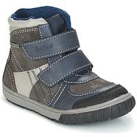 鞋子 男孩 雪地靴 Kickers SITROUILLE 灰色 / Fonce / 蓝色
