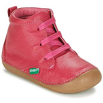 鞋子 女孩 短筒靴 Kickers SONICE 紫红色