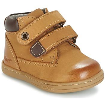 鞋子 男孩 短筒靴 Kickers TACKEASY 驼色